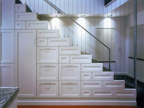 北欧寝室 階段収納