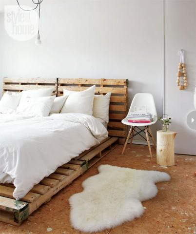 北欧寝室 パレット